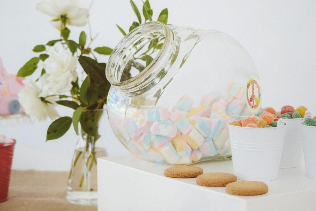 Sommerliche Candybar mit Marshmallows
