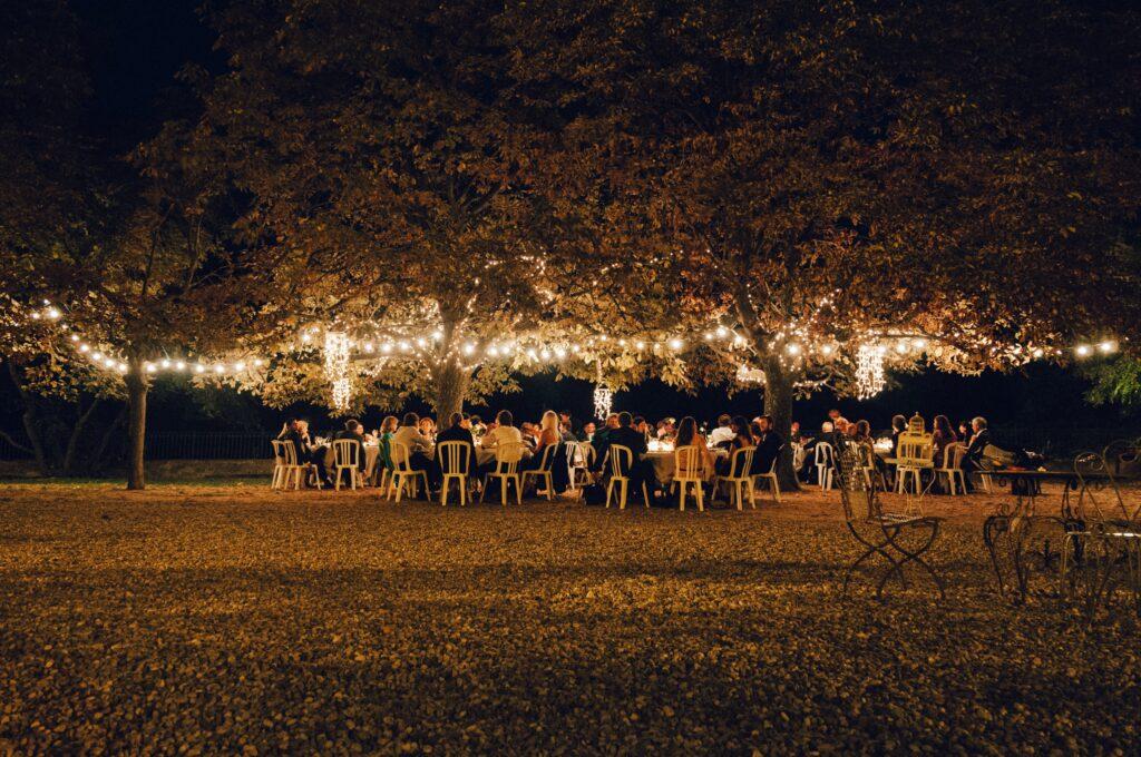 Outdoor Hochzeit essen draußen