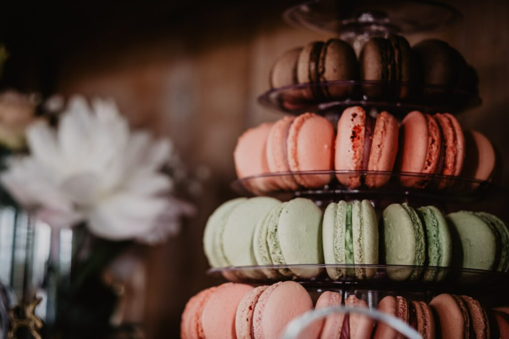 Macarons für Candybar im Sommer